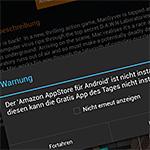Artikelbild Warnung fehlender Amazon App-Shop